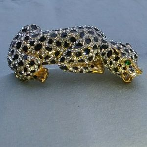 Cheetah hinged bangle bracelet